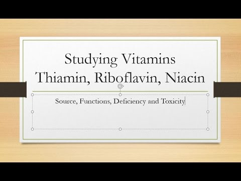 Overview Vitamins Thiamin, Riboflavin and Niacin