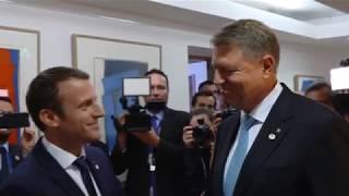 Întâlnirea dintre președintele României, Klaus Iohannis și președintele Franței, Emmanuel Macron