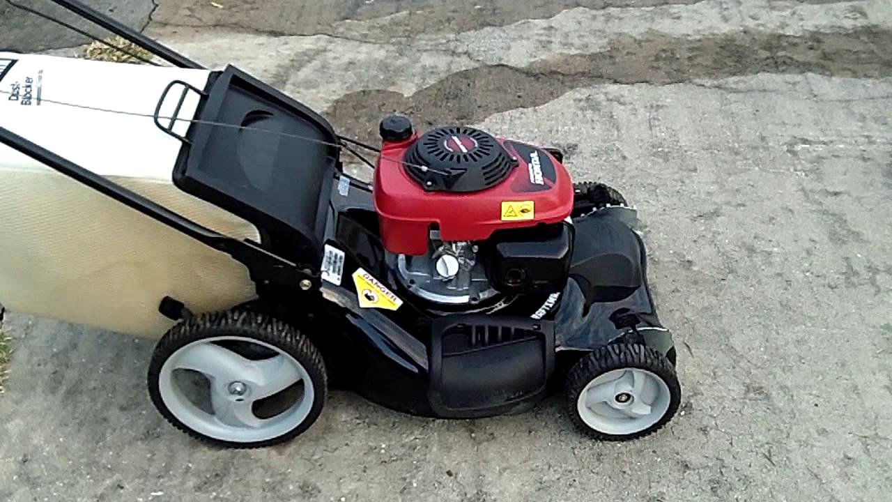 Craftsman 21 Self Propelled Mower Running Honda Engine