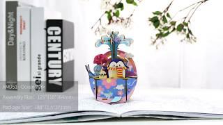 Robotime New arrival music box Series - 3D wooden puzzle - Ocean Park AMD51