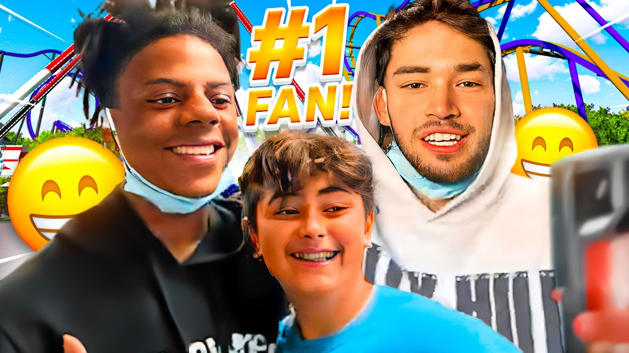 Kid FREAKS OUT after Meeting Adin Ross & iShowSpeed at Six Flags!!