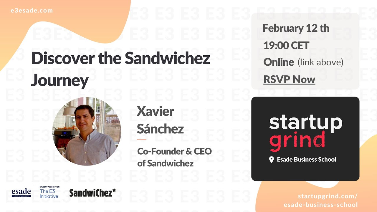 Xavier Sánchez (CEO & Co-Founder of Sandwichez)