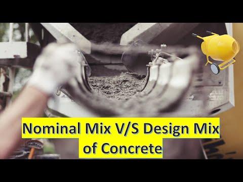 Nominal Mix Design for Concrete