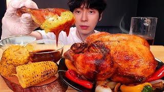 MUKBANG 칠면조 만한 통닭 치킨 먹방 | 불닭볶음…