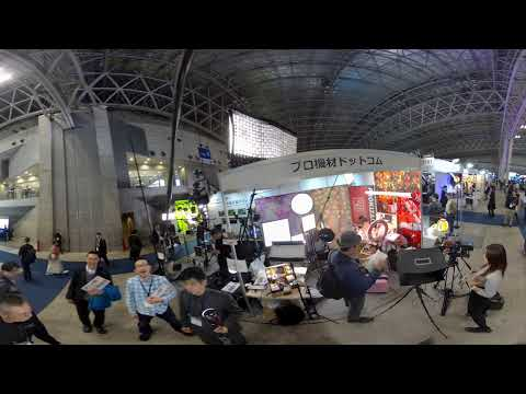 3D360 demo footage with Obsidian at InterBEE 2017, Tokyo Japan
