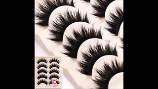 Thick 5 Pairs Makeup Natural False Eyelashes Eye Lash Long Black Handmade Soft
