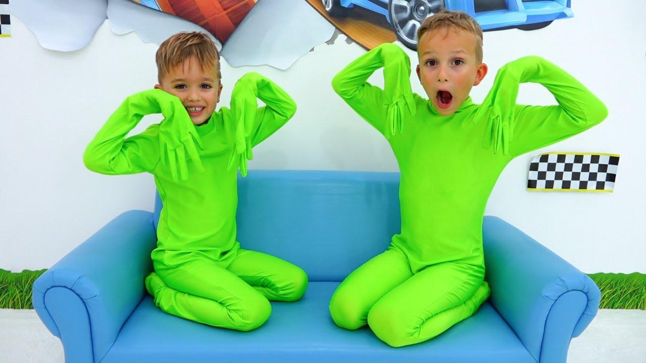 Vídeos engraçados com brinquedos para crianças - Vlad e Niki