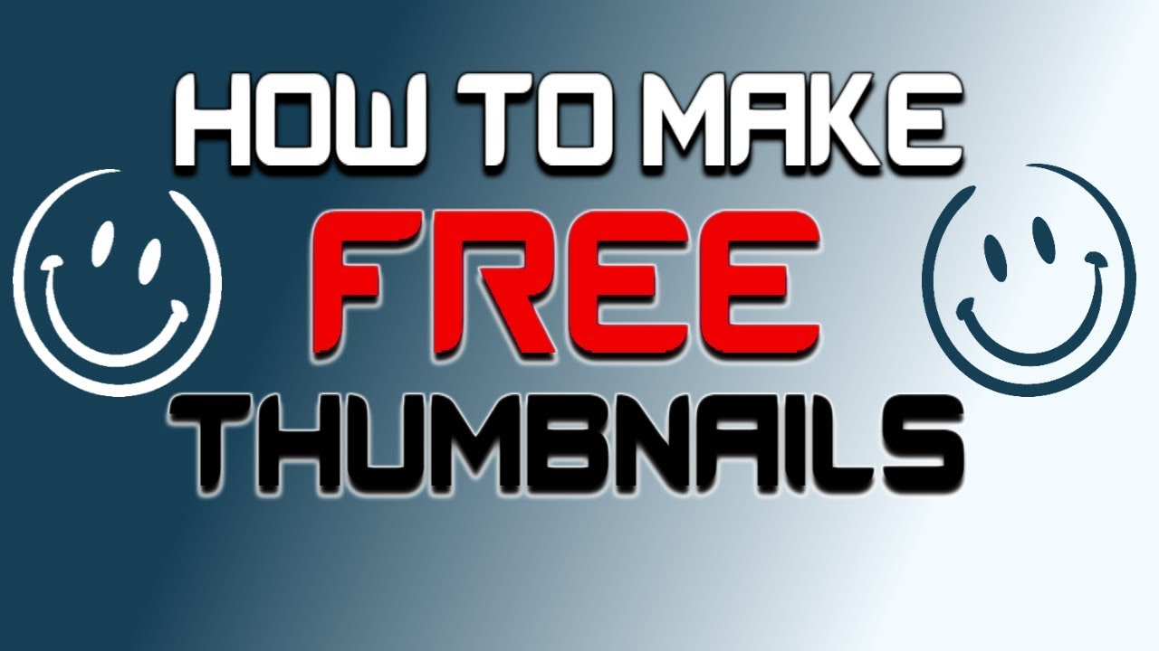 how to make thumbnails for free