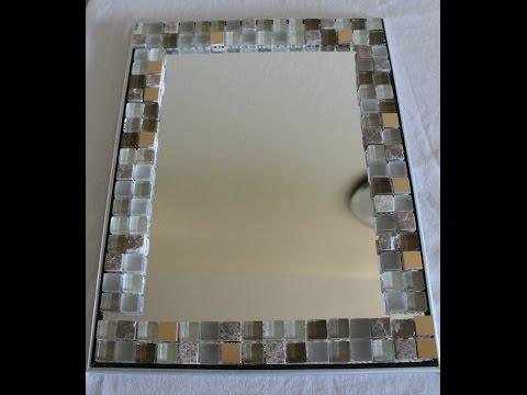 DIY Home Decor - Glass tile Mirror frame - Yolanda Soto Lopez