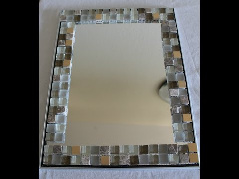 DIY Home Decor - Glass tile Mirror frame - Yolanda Soto Lopez