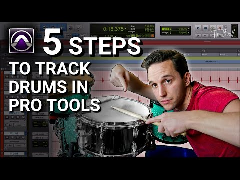 How to: 5 EASY Steps to Recording Drums (Pro Tools)