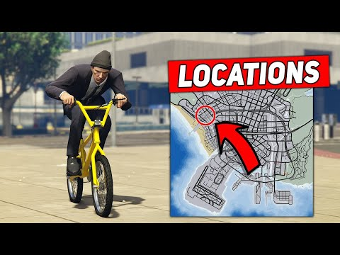 TOP 10 BMX STUNT SPOTS FOR BEGINNERS! - (GTA 5 Stunts)