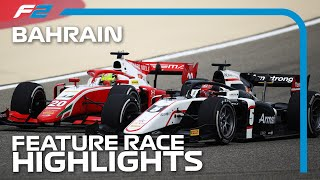 F2 Feature Race Highlights | 2020 Bahrain Grand Prix