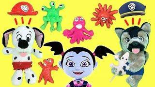 Paw patrol bebes y patrulla canina en español: Vampirina y regalos de monstruitos de juguete