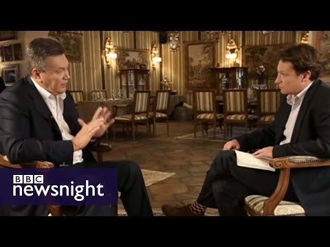 'I supported the ostriches, what's wrong with that?' Viktor Yanukovych speaks to BBC Newsnight