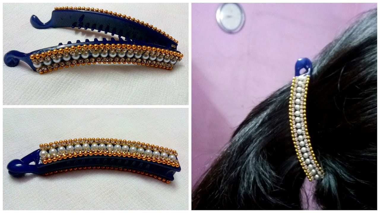 Diy Hair Accessories Turn Your Old Banana Clip Into New Designer At Home I Creative Diaries You