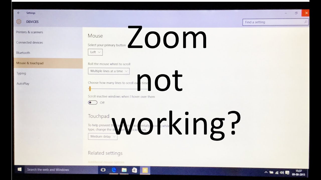 Fix  zoom not working in creo on windows 10  YouTube