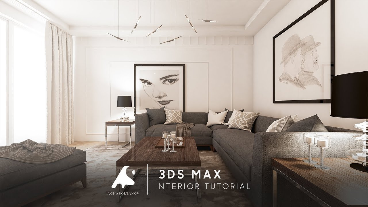 interior photo 3ds max 2017 interior tutorial modeling vray photoshop