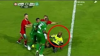 ✃ When referee  fights player soccer .. who will win? #129 ✓