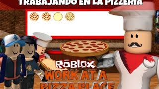 ROBLOX | Trabajando en la pizzeria | Work At Pizza Place | NicksDaga | Español | Ft. NataliaAndrea