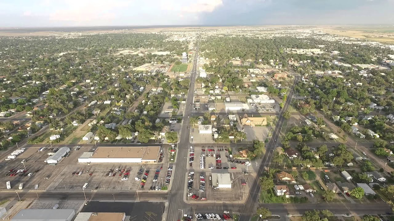 Garden City Kansas West Side Aerial View Youtube