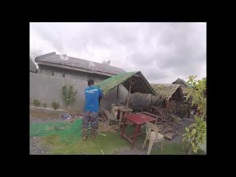 NIPA HUT REPAIR – RECOVERY FROM TYPHOON ROSITA – This is our Philippines