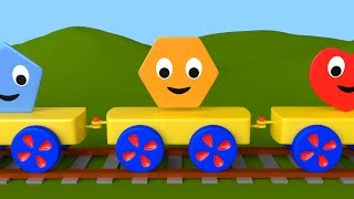 Learn 2D Shapes with the Shapes Train for Toddlers & Kids