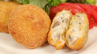 Crab Cream Korokke Recipe (Japanese-style Fried Croquettes Filled with Seafood) | Cooking with Dog