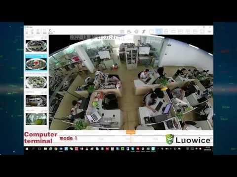Function Show of Luowice 360 Degree VR 3D Panoramic Security Camera