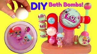 LOL Surprise Doll Babies FIZZ FACTORY Make Your Own DIY Fizzy Bath Bombs | Fizzy Toy Show