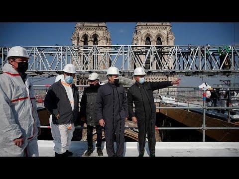 شاهد: ماكرون يزور كنيسة نوتردام في باريس بعد عامين من حريق مدمر…  - نشر قبل 2 ساعة