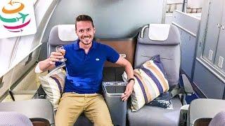 Lufthansa 747-8 Business Class Upperdeck (ENG) | GlobalTraveler.TV
