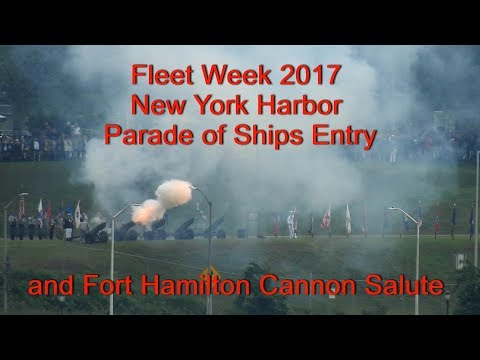 Fleet Week 2017 Parade Of Ships New York Harbor Entry
