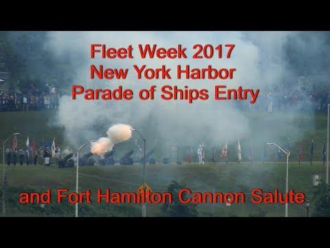 Fleet Week 2017 New York Harbor Parade Of Ships Entry