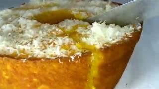 Esse bolo de Milharina com leite condensado você vai amar