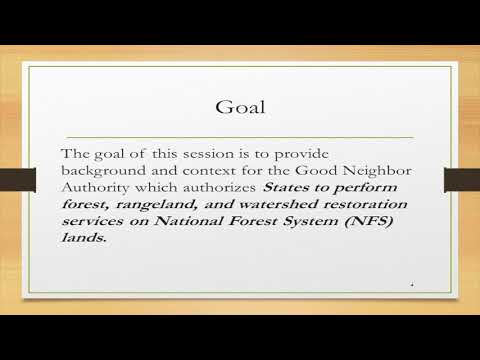 Webinar: Working With Good Neighbor Authority For State Fish & Wildlife Agencies