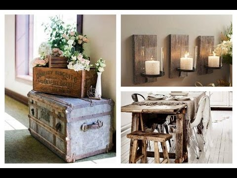Decoraci n de estilo r stico ideas inspiraci n youtube - Como pintar un salon rustico ...