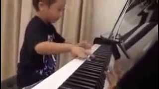 Ванда Дмитриева. Дети индиго. Ребенок играет на пианино(Маленький мальчик играет на пианино. Реинкарнация существует!!!! Так играть в таком возрасте- только память..., 2013-10-26T22:17:36.000Z)