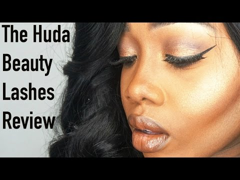 HUDA BEAUTY LASHES REVIEW & DEMO - TheBelloSisters