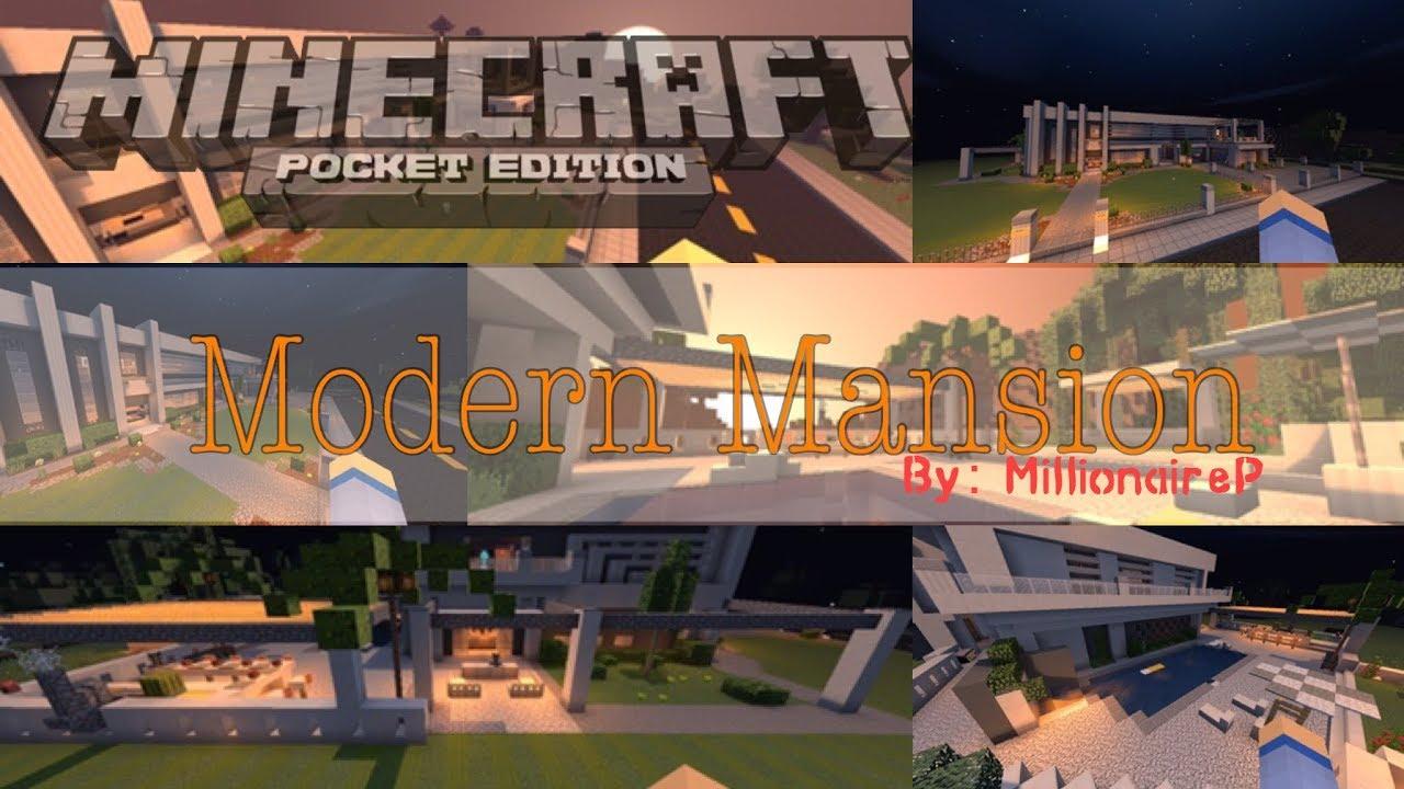 MCPE: Millionaire Modern Mansion (Quick Tour w/ Download Link)