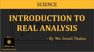 Introduction to Real Analysis(B.Sc-II)