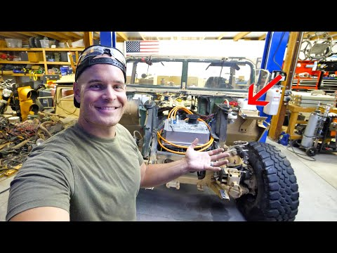 We stole the Brakes from a Tesla! – Totally Silent Electric Hummer?