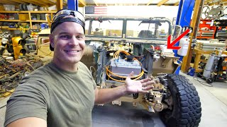 We stole the Brakes from a Tesla! - Totally Silent Electric Hummer?