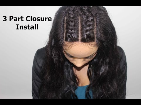 WN - how to install a 3 part closure braid pattern