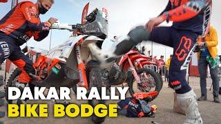 Dakar 2021: Daniel Sanders Bodges His Bike and Gets Facial Stitches