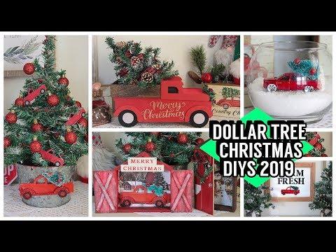 DOLLAR TREE CHRISTMAS DIYS 2019 RED TRUCK DIYS