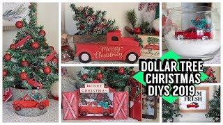 DOLLAR TREE CHRISTMAS DIYS 2019 RED TRUCK DIYS