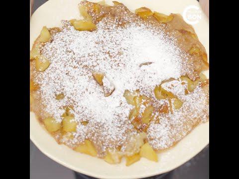 recette-du-gâteau-aux-pommes-à-la-poêle