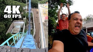 Riding Cyclone Roller Coaster at Toshimaen in Japan! Multi Angle Onride 4K POV としまえん