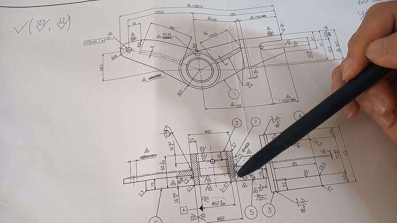 hướng dẫn đọc bản vẽ cơ khí nhật-bản vẽ tiêu  chuẩn nhật